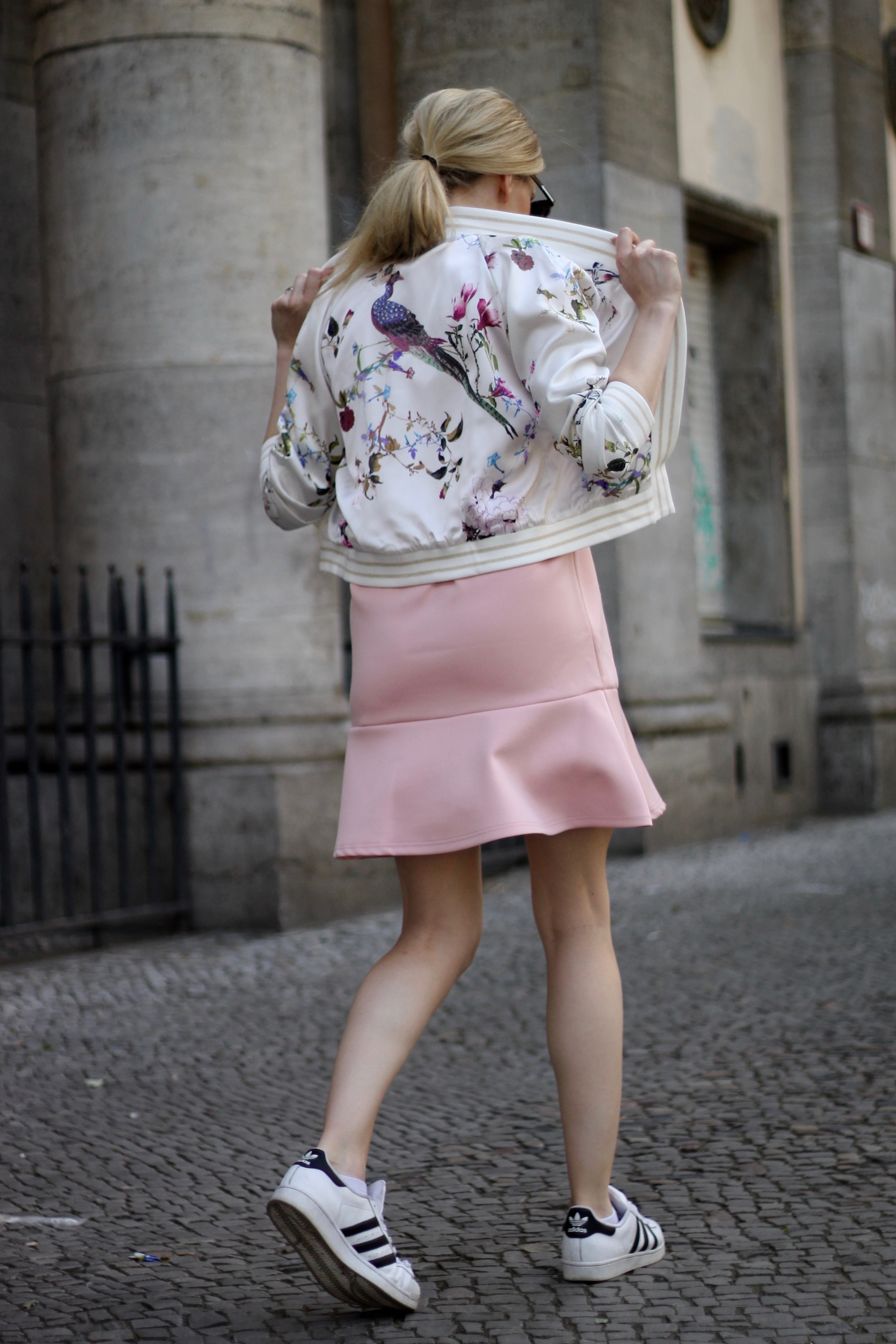 Berlin, Bomber, Florals, Summer and Fall Trends, Fashion, Adidas Superstar, www.KohlerCharles.com